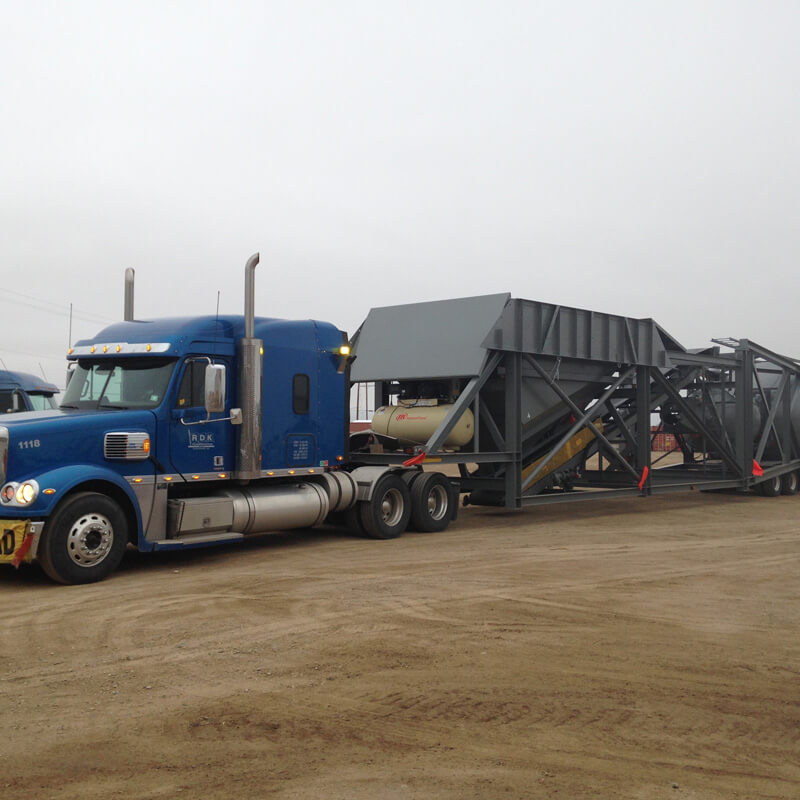 Semi truck pulling equipment