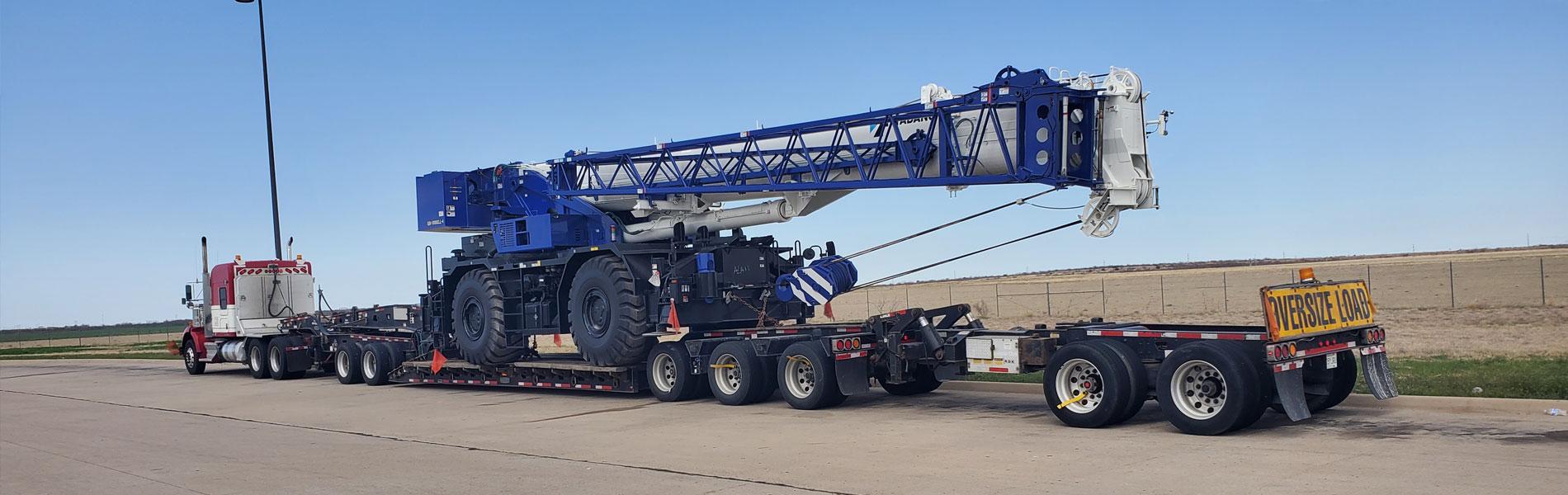 10 Axle Construction Crane Move